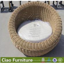 Muebles de exterior Tumbona redonda de ratán al aire libre