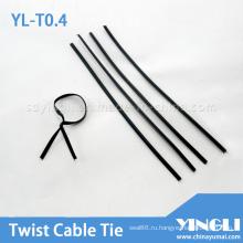 Металлический Твист галстук в разного диаметра и длины (ил-Т0.45)