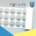 Modelo novo personalizado Etiqueta de garantia de segurança para máquinas de construção