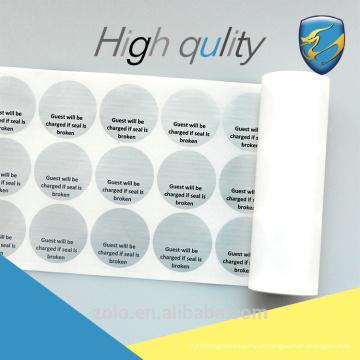 Etiqueta de vedação de segurança adesiva descartável para substituição