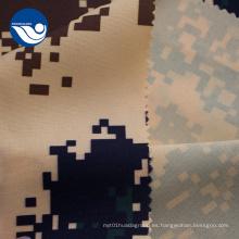 Tela Oxford impermeable camuflada minimatt tejida
