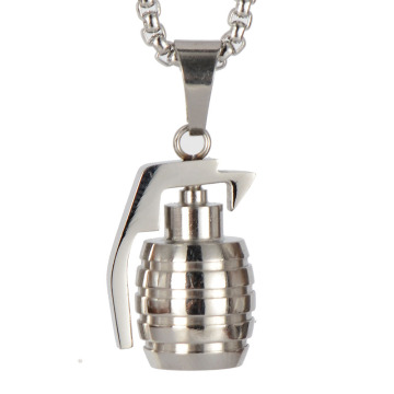 Collier Pendentif Grenade Main Hiphop Man Or Grenade