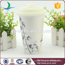 Manufacturer ceramic double wall insulated mug without handle