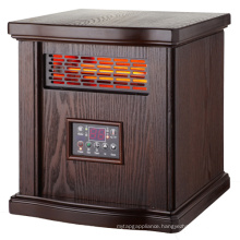 IH-1508D popular type wooden cabinet infrared quartz tube electric room heaters