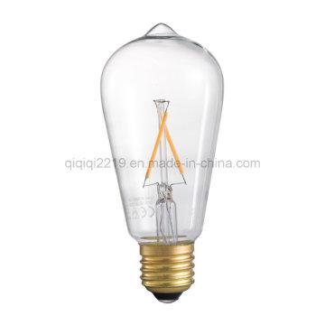 2W St64 220V Dimmable LED Filament Bulb