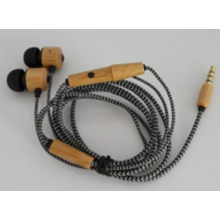 Bamboo MP3 Stereo Earset Earphone