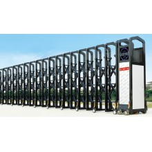 Puerta retráctil eléctrica automática
