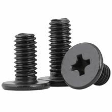 Black Carbon Steel M1.2 M1.4 M1.6 M2 M2.5 M3 Thin Head Screw CSK Countersunk Flat Head Cross Phillips Machine Screw