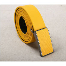 Lemon yellow mens automatic belt