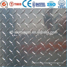 Meilleur prix 1100 tôle d'aluminium antidérapante
