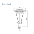 12W Solar Garden Path Light house
