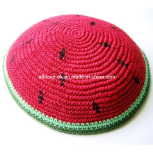 Judaica Jewish Kippa Kippot Kippah Kipa Prayer Cap, DMC Thread Knitted Kippah