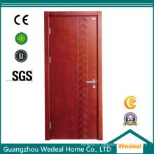 Porte intérieure solide de noyau de MDF / HDF de placage en bois affleurant