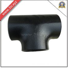 ANSI B 16.9 CS A234/A105 Black Seamless Equal Tee (YZF-E351)
