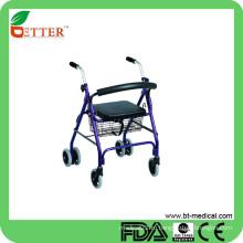 FDA и CE установлены 6-дюймовые колесные ходунки с сиденьем