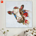 Cartoon Cow Canvas Print for Home