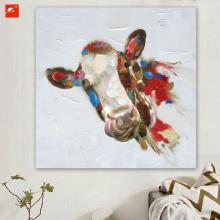 Cartoon Cow Canvas Print for Home