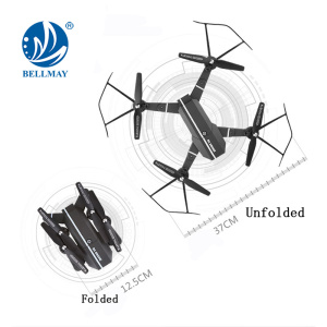 2.4GHz 4CH 6 Axis Gyroscope Folding Long Range RC Drone with 0.3MP Wifi Camera 8807W