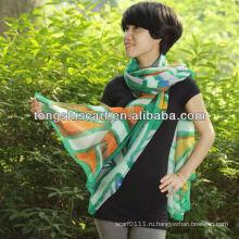 мода маркизета печатных шарф