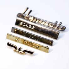 Custom Engrave Brand Name Logo Vintage Metal Bag Plate Label For Crossbag