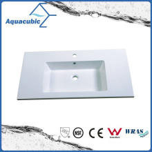 Rectangular Single Lever Polymarble Vanity Sink Acb0916