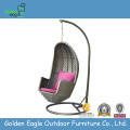 White Color Rattan Hanging Swing with Cushion