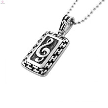 Modern rectangle pendant setting ,music note pendant