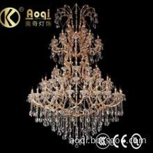 D1730 H2500 Crystal Chandelier with K9 crystal  amber color