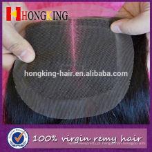 Fechamento e pacotes virgens do laço da parte do estilo livre do cabelo do Mongolian