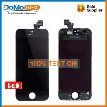 Prix de gros de haute qualité 100 % test lcd, lcd touch panel pièces de rechange pour iphone 5