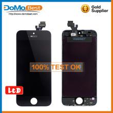 Preço de atacado de alta qualidade 100% teste de lcd, lcd touch painel peças de reposição para iphone 5