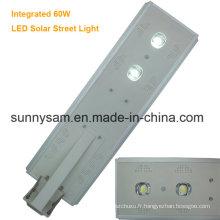 60 watts imperméabilisent le réverbère solaire d'intense luminosité de la catégorie IP65