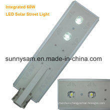 60 Watts Waterproof Grade IP65 High Brightness Solar Street Light