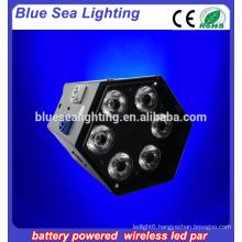 white or black rgbwa 6in1 led mini flat par stage light