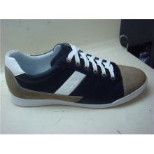 Zapatos casuales para hombre de encaje de cuero de moda (NX 508)