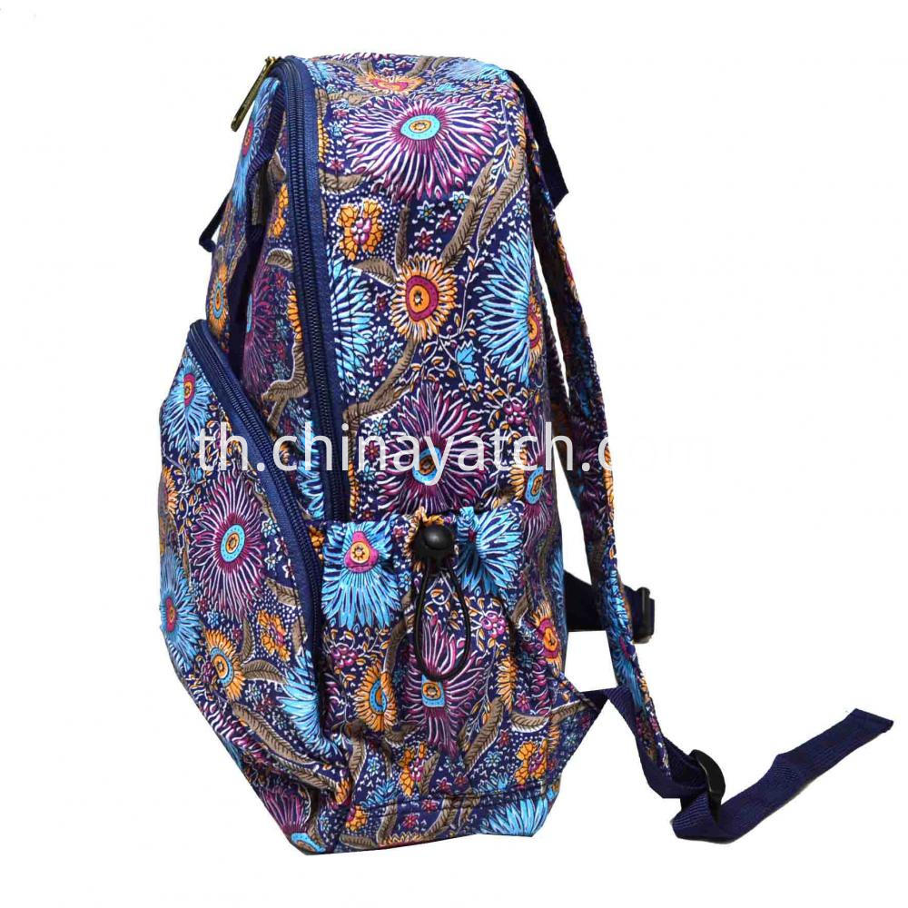 Printing Cotton Fashion Backpack