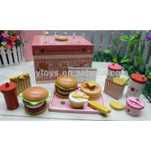 Strawberry hamburger set food toy