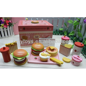 Strawberry hamburger set food toy