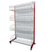 Powder Coating Single Sided Wire Basket Shelf by Mnaufacturer
