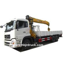 Grue à flèche rigide de 12 tonnes montée sur camion