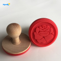 buona forma di rosa Regalo in silicone Cookie Stamp