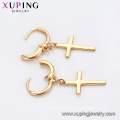 95859 Xuping Jewelry 18K Gold Plated Cross Earring with Copper Alloy