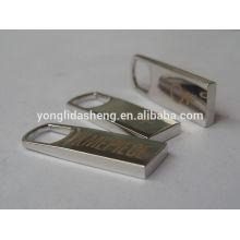 Puxar personalizado do zipper do metal do logotipo com alta qualidade e preço barato
