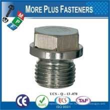 Made in Taiwan Hexagon Head Screw Plug Cylindrical Pipe Thread DIN 910 Stainless Steel A4