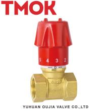 Válvula de bloqueio de ajuste manual de latão cromado DN15