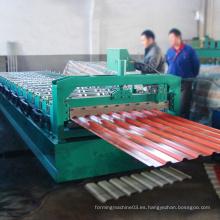 Rollo de techo de arco de espesor 0,5 mm de bajo costo que forma la máquina