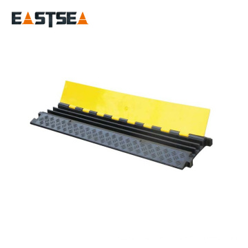 Black and Yellow Small Type 3 Channels Rubber Floor Cable Protector
