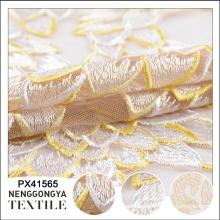 Fabriqué en Chine Différents types de tissu saree brodé décoratif doux