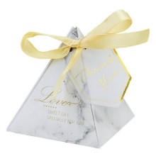 Hot sale for Gift Box With Ribbon Bow,Small Gift Boxes,Long Umbrella Gift Box Manufacturers and Suppliers in China Marble candy box with gold printing export to Poland Wholesale