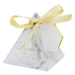 Customized for Gift Box With Ribbon Bow,Small Gift Boxes,Long Umbrella Gift Box Manufacturers and Suppliers in China Marble candy box with gold printing export to Poland Wholesale